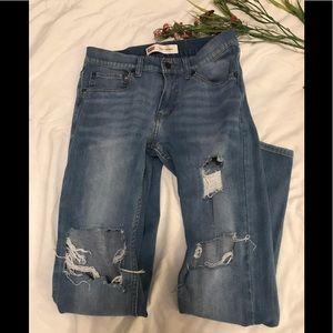 Levi's 510 distressed skinny jeans